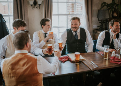 Groomsmen at The Foresters Arms, Fairwarp