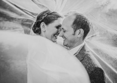 Wedding at The Secret Garden, Mersham Veil shot
