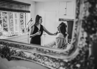 Bridal prep, wedding day