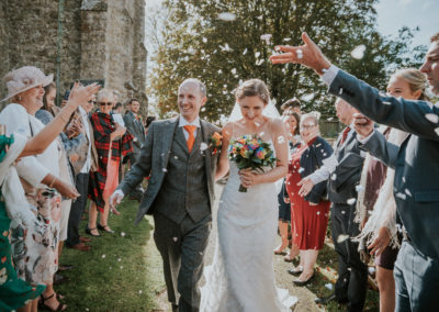 Wedding at St John the Baptist Church, Mersham