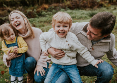 Family Laughing at Knole Park