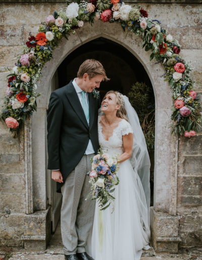 Bride and Groom at Brightling Church