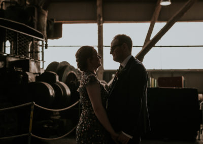 Couple in Boat shed, Chatham Dockyards