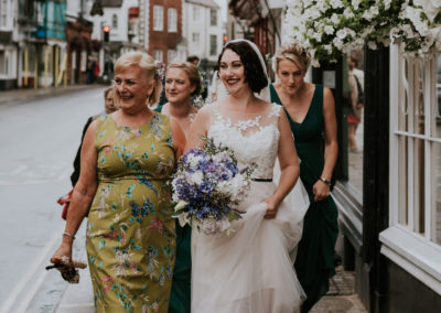 Bridal Party on Lewes high street