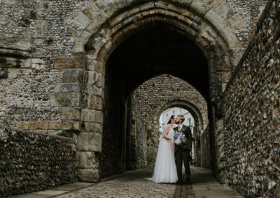 Wedding portraits at Lewes Castle