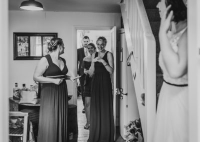 Bride and bridesmaids, Lewes
