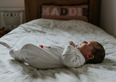 Newborn baby at home shoot